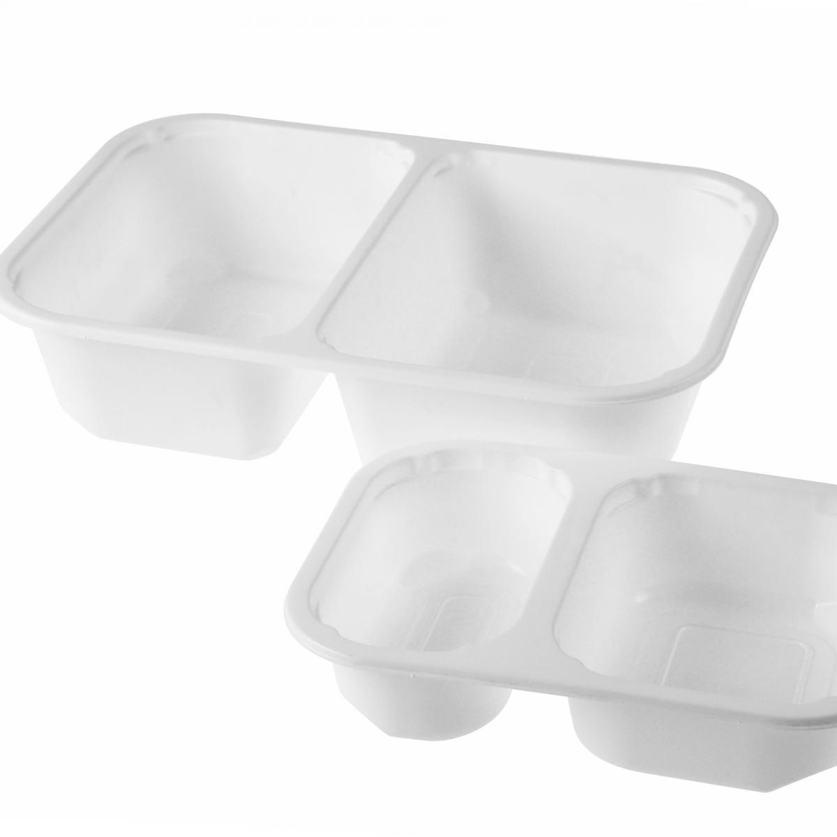 Menuschaal van plastic voor opslag voedsel