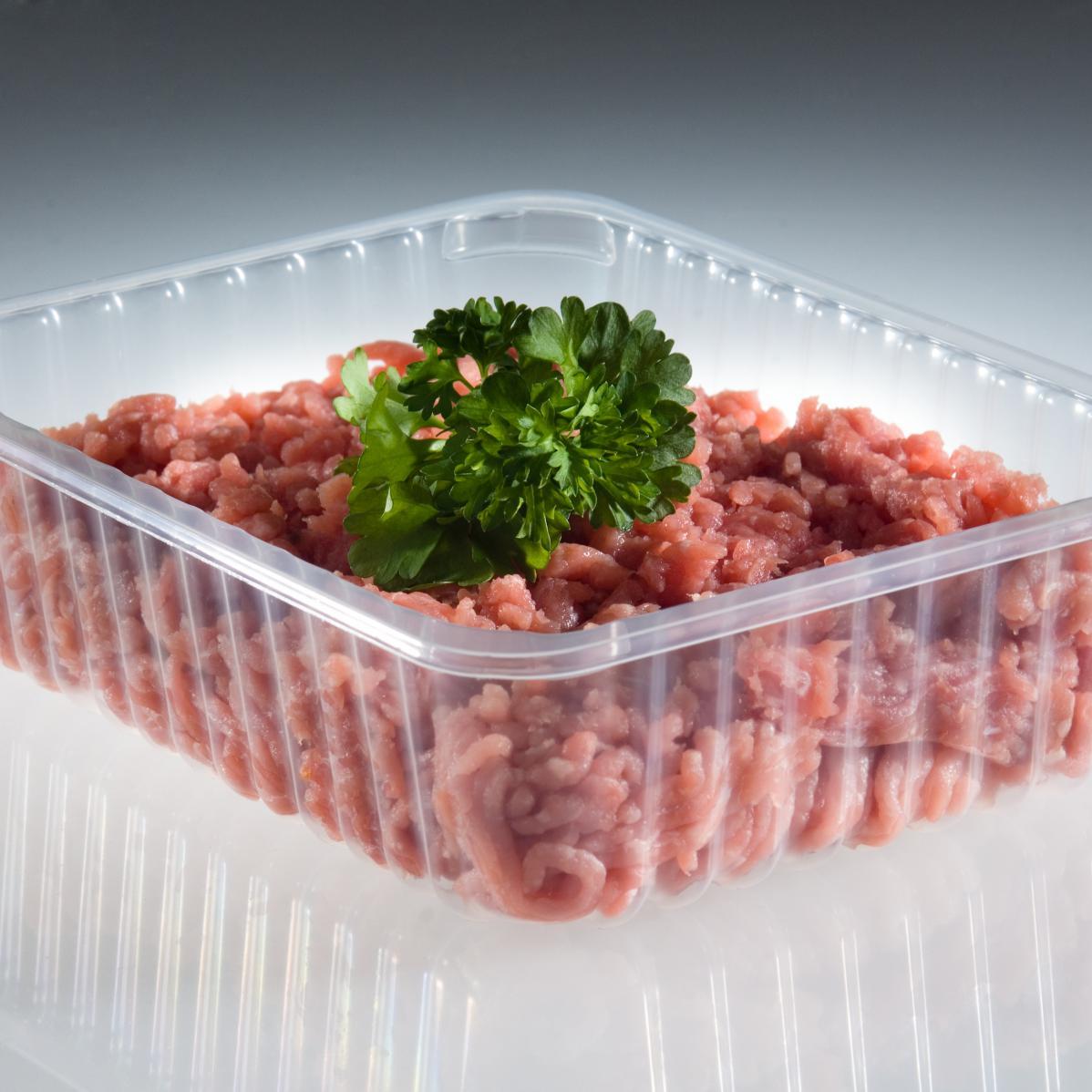 Ribschaal plastic voor voedsel